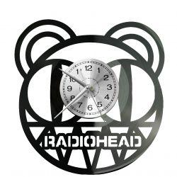 Radiohead Zegar Ścienny Płyta Winylowa Nowoczesny Dekoracyjny Na Prezent Urodziny