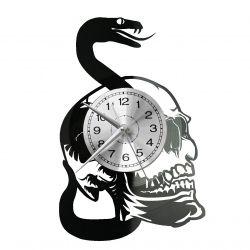Snake Skull Zegar Ścienny Płyta Winylowa Nowoczesny Dekoracyjny Na Prezent Urodziny
