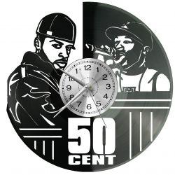 50 Cent Rapper Zegar Ścienny Płyta Winylowa Nowoczesny Dekoracyjny Na Prezent Urodziny