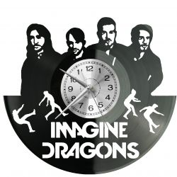 Imagine Dragons Zegar Ścienny Płyta Winylowa Nowoczesny Dekoracyjny Na Prezent Urodziny