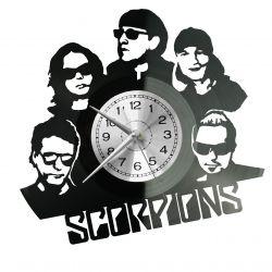 Scorpions Zegar Ścienny Płyta Winylowa Nowoczesny Dekoracyjny Na Prezent Urodziny