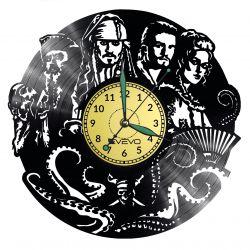 Pirates of the Caribbean Vinyl Zegar Ścienny Płyta Winylowa Nowoczesny Dekoracyjny Na Prezent Urodziny