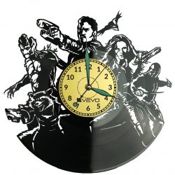 Guardians of the Galaxy Vinyl Zegar Ścienny Płyta Winylowa Nowoczesny Dekoracyjny Na Prezent Urodziny