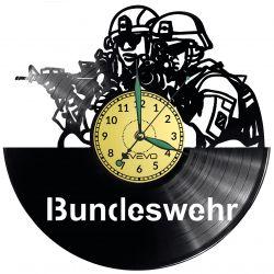 Bundeswehr Vinyl Zegar Ścienny Płyta Winylowa Nowoczesny Dekoracyjny Na Prezent Urodziny