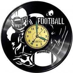 Football Amerykański Vinyl Zegar Ścienny Płyta Winylowa Nowoczesny Dekoracyjny Na Prezent Urodziny