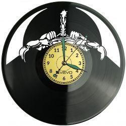 Rokowy Zespół Muzyczny (Scorpions) Zegar Ścienny Płyta Winylowa Nowoczesny Dekoracyjny Na Prezent Urodziny