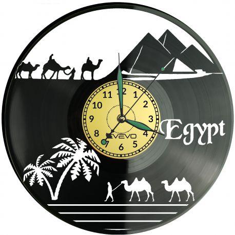 Egipt Zegar Ścienny Płyta Winylowa Nowoczesny Dekoracyjny Na Prezent Urodziny