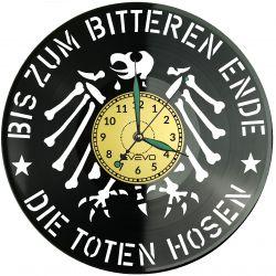 Die Toten Hosen Zegar Ścienny Płyta Winylowa Nowoczesny Dekoracyjny Na Prezent Urodziny