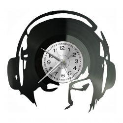 I Love Music Zegar Ścienny Płyta Winylowa Nowoczesny Dekoracyjny Na Prezent Urodziny