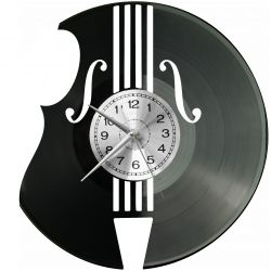 Kontrabas Zegar Ścienny Płyta Winylowa Nowoczesny Dekoracyjny Na Prezent Urodziny