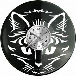 Kot Zegar Ścienny Płyta Winylowa Nowoczesny Dekoracyjny Na Prezent Urodziny