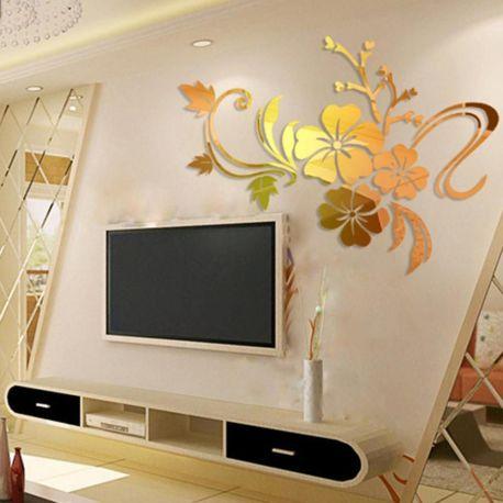 Lustro Dekoracyjne Kwiaty Na ścianę 3d Dekory Evevo P0002 Evevo