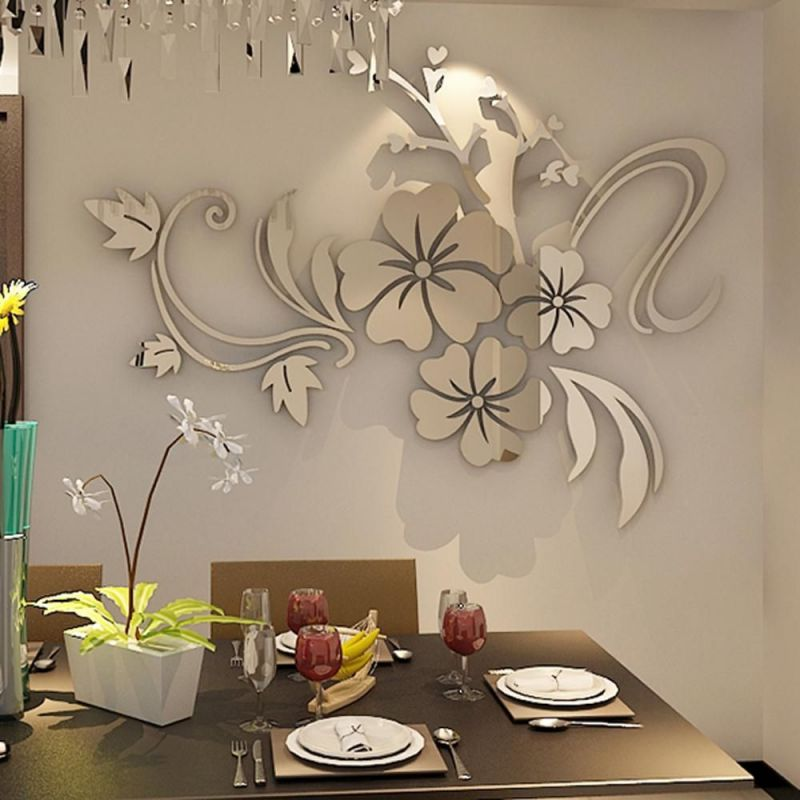 Lustro Dekoracyjne Kwiaty Na ścianę 3d Dekory Evevo P0002
