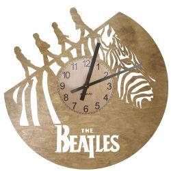 The Beatles Zegar Ścienny Drewniany