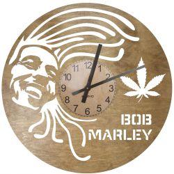 Bob Marley Zegar Ścienny Drewniany