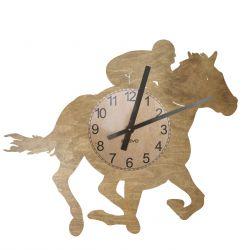 Jeździec Jeździectwo Zegar Ścienny Drewniany