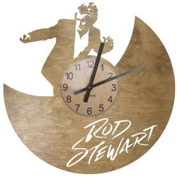 Rod Stewart Zegar Ścienny Drewniany
