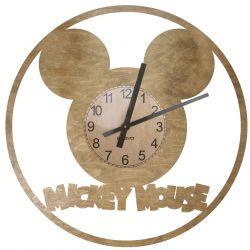 Myszka Miki Zegar Ścienny Drewniany