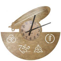 Led Zeppelin Zegar Ścienny Drewniany