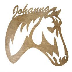 Głowa Konia Twoje Imię Dekoracja Drewniana Dla Niej lub Dla Niego na Prezent 109 Kolorów do Wyboru