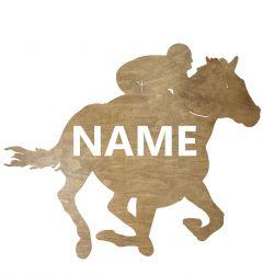 Jeździectwo Twoje Imię Dekoracja Drewniana Dla Niej lub Dla Niego na Prezent 109 Kolorów do Wyboru