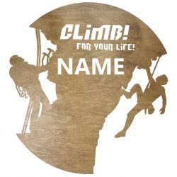 Wspinaczka Twoje Imię Dekoracja Drewniana Dla Niej lub Dla Niego na Prezent 109 Kolorów do Wyboru