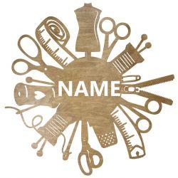 Zakład Krawiecki Twoja Nazwa Dekoracja Drewniana Dla Niej lub Dla Niego na Prezent 109 Kolorów do Wyboru