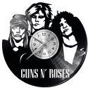 Guns and Roses Zegar Ścienny Płyta Winylowa Nowoczesny Dekoracyjny Na Prezent Urodziny