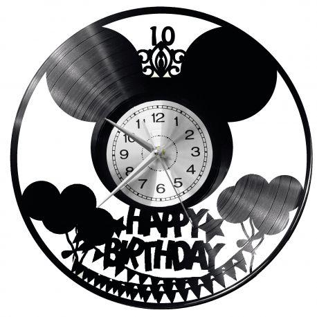 Happy Birthday Zegar Ścienny Płyta Winylowa Nowoczesny Dekoracyjny Na Prezent Urodziny