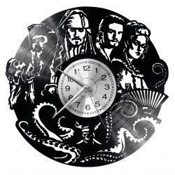 Pirates of the Caribbean Zegar Ścienny Płyta Winylowa Nowoczesny Dekoracyjny Na Prezent Urodziny