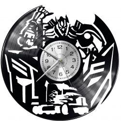 Transformers Zegar Ścienny Płyta Winylowa Nowoczesny Dekoracyjny Na Prezent Urodziny