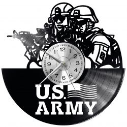 U.S. ARMY Zegar Ścienny Płyta Winylowa Nowoczesny Dekoracyjny Na Prezent Urodziny
