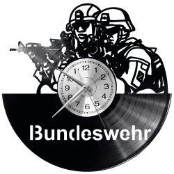 Bundeswehr Zegar Ścienny Płyta Winylowa Nowoczesny Dekoracyjny Na Prezent Urodziny