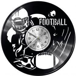 Football Amerykański Zegar Ścienny Płyta Winylowa Nowoczesny Dekoracyjny Na Prezent Urodziny