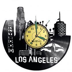 LOS ANGELES ZEGAR ŚCIENNY WINYL PŁYTA WINYLOWA EVEVO EVEVO.PL